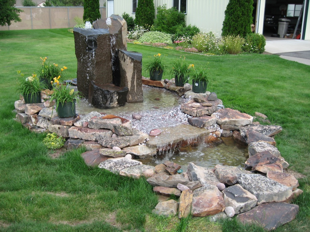 Home style choices landscape water features Home water features